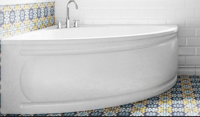 монтаж угловой ванны